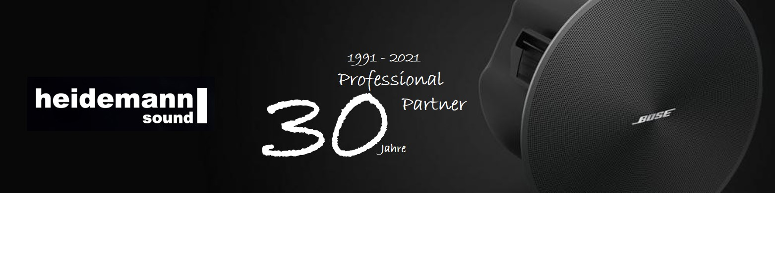 heidemann 30 Jahre Bose Pro